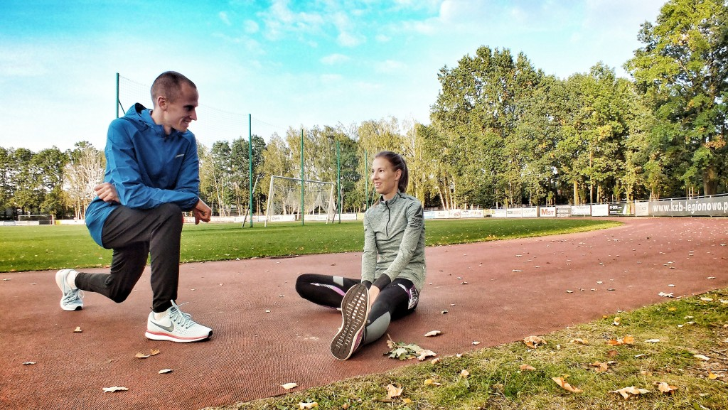 Obóz biegowy Szklarska Poręba listopad 2017 - trenerzy Kamila i Emil Dobrowolscy