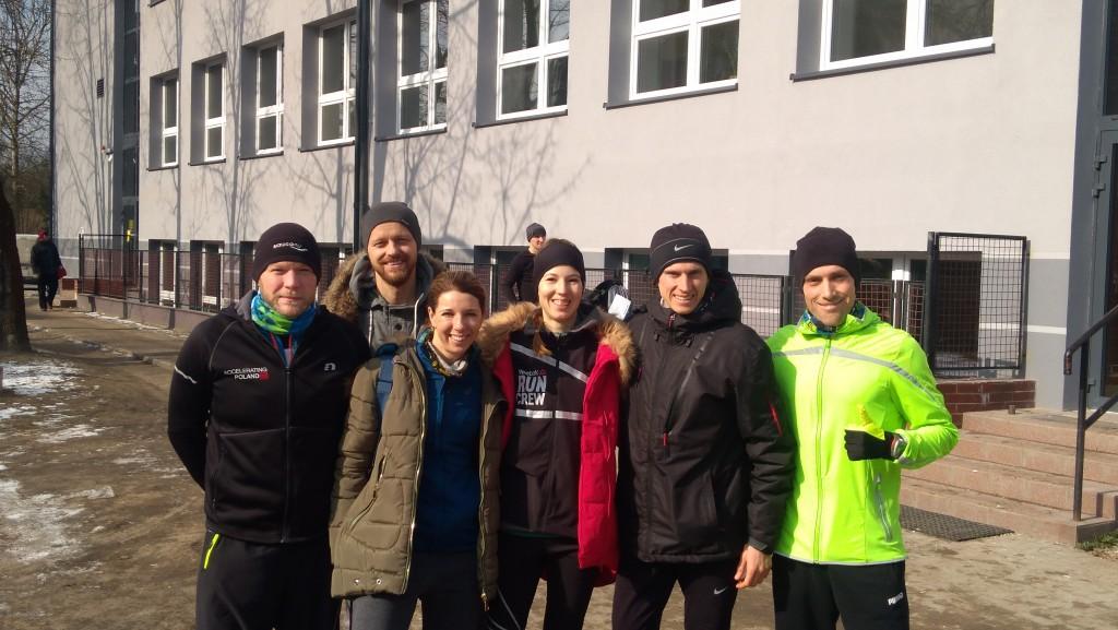 Trener biegania - starty grupy biegowej na zawodach w marcu