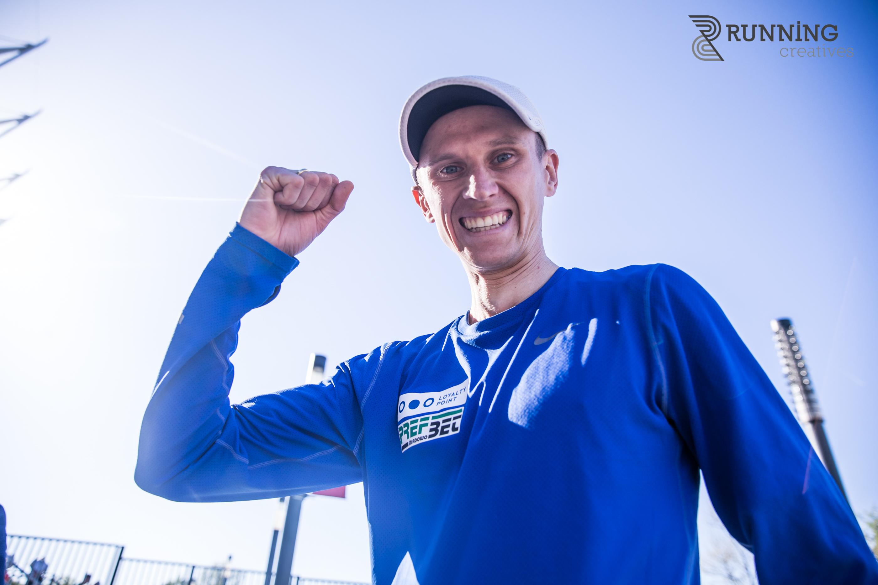 Emil Dobrowolski po Orlen Warsaw Marathon