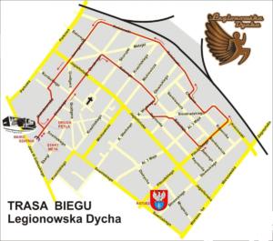 Legionowska Dycha 2018 trasa