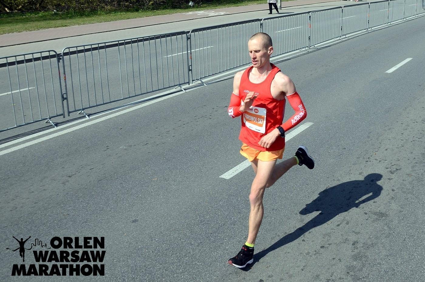 Emil Dobrowolski maraton w Warszawie - Orlen Warsaw Marathon 2019